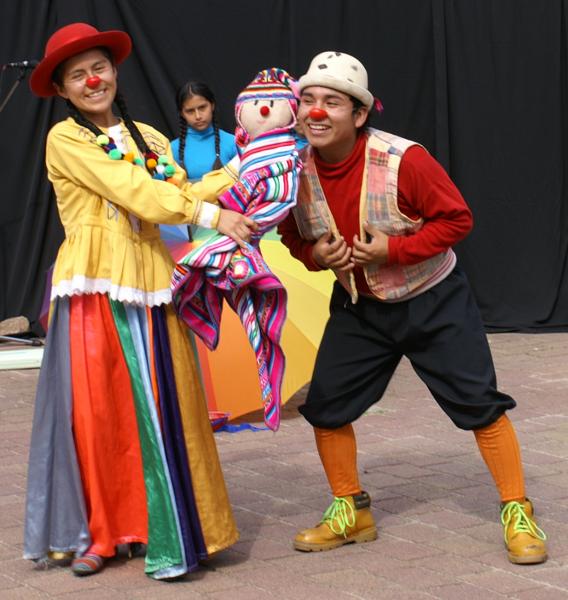 Arena y Esteras beim Landkultur Festchen