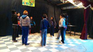 Silvia beim Theaterworkshop im Kulturhaus