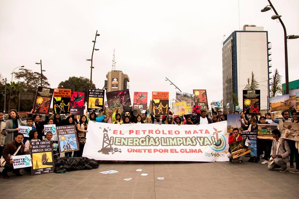 Protest für das Klima von Arena y Esteras